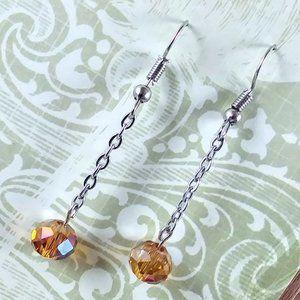 Topaz Crystal Dangle Earrings